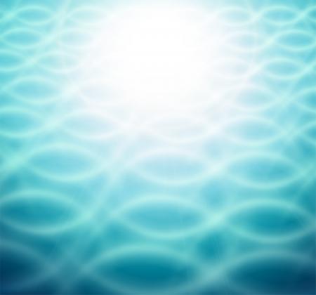 Abstract blue wave background Vektorové ilustrace