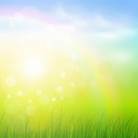 Natural sunny background. Illustration