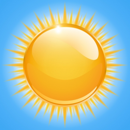 sunbeam: Sun icon,  illustration
