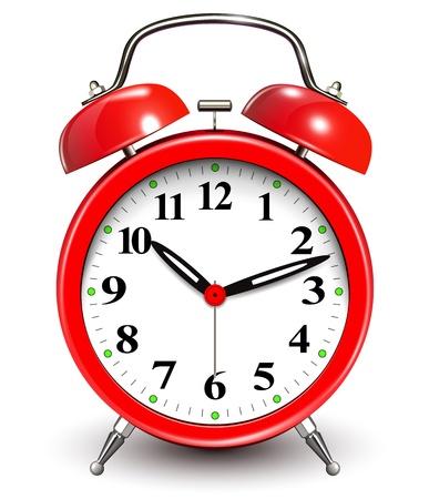 alarm clock: Red alarm clock  Illustration