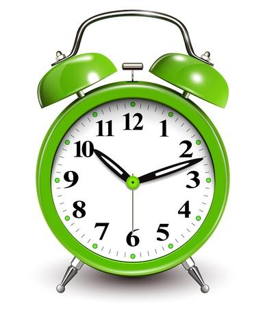 despertador: Reloj de alarma verde