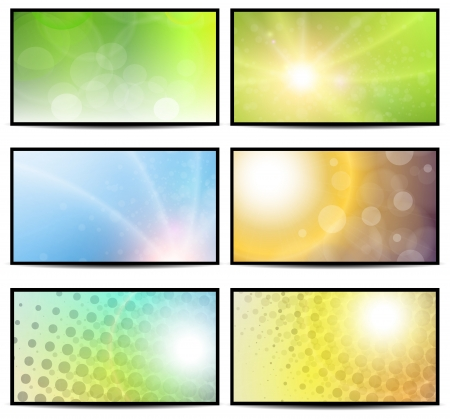 Natural sunny backgrounds collection.  Stock Vector - 18385972