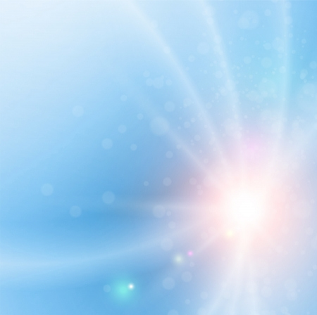 holy spirit: Blue abstract background lines and sunny sky.