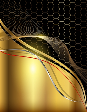 creative money: Business abstract background elegant gold. Illustration
