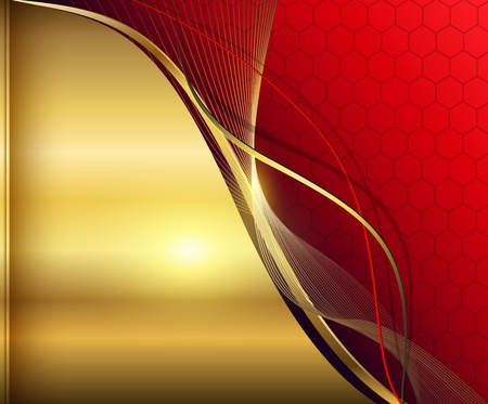 rich black wallpaper: Elegant abstract background red and gold.