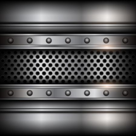 steel bar: Background vector metallic.