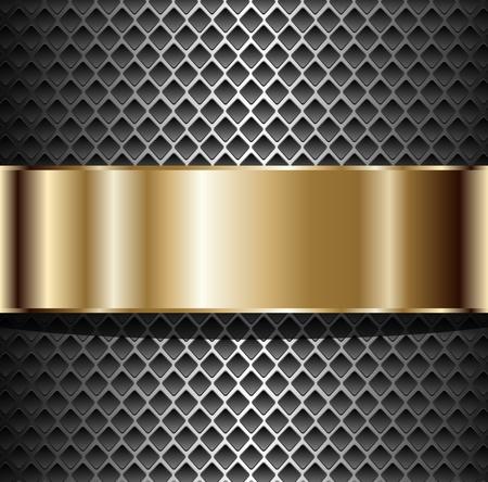 Achtergrond elegante metalen, illustratie