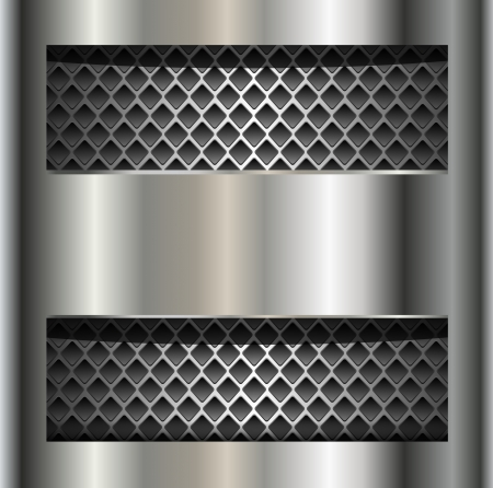 steel plate: Abstract background metallic silver. Illustration