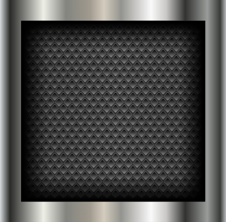 Abstract background metallic silver with holes pattern,  Vector