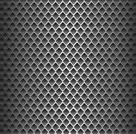 ebon: Textura de fondo sin fisuras - cuadrado negro superficie met�lica perforada.