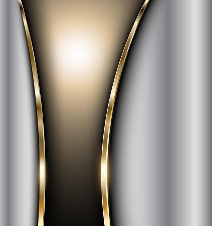 Résumé fond or élégant en métal argenté