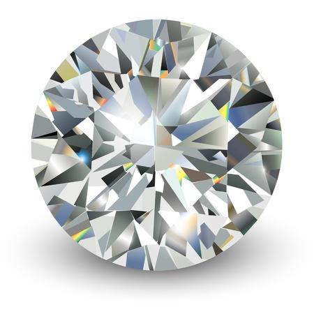Diamond, realistic illustration.