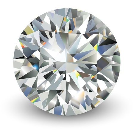 Diamond, realistic illustration. Vector