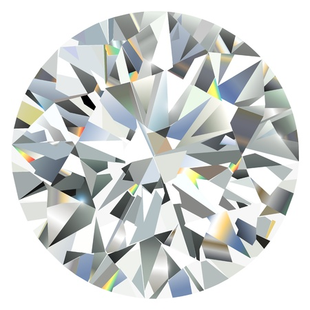 diamond stone: Diamond isolated on white Illustration