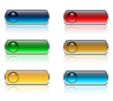 Web buttons set aqua glossy. Illustration