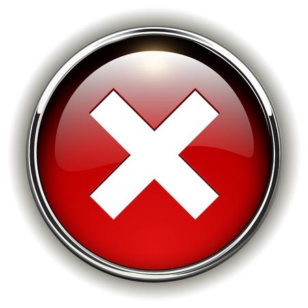 kiválasztás: Tagadja, rossz ikon, piros gombot.