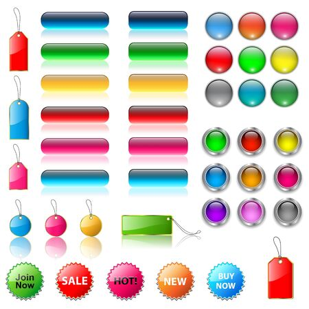 Set of vector web buttons. Stock Vector - 19104923