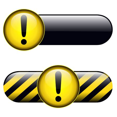 Exclamation danger buttons, icons design. Stock Vector - 19104916