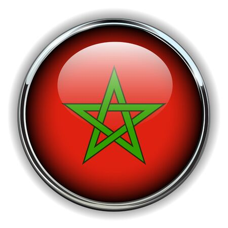 pentagram: Morocco flag button