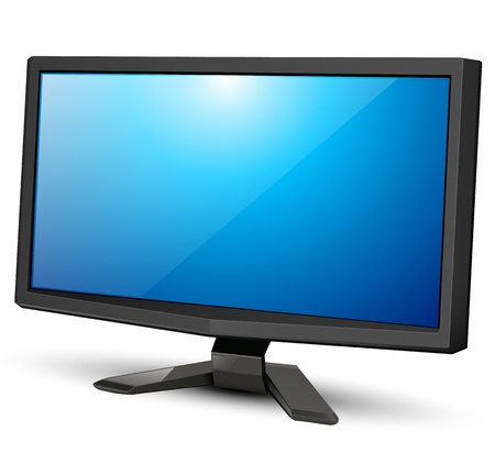 lcd tv: lcd tv monitor, vector illustration.