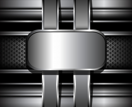 stainless steel background: 3D Background vector metallic.