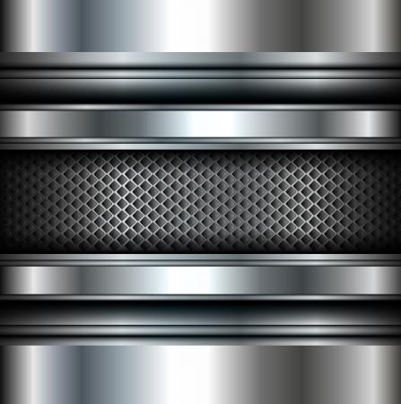 Antecedentes vector metálico. Ilustración de vector
