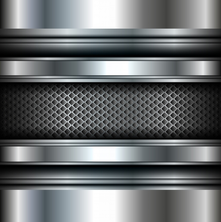 metal sheet: Background vector metallic.