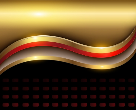 Elegant abstract background red and gold. Stock Vector - 19247864