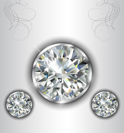 Luxury background with diamonds, vector. Vector