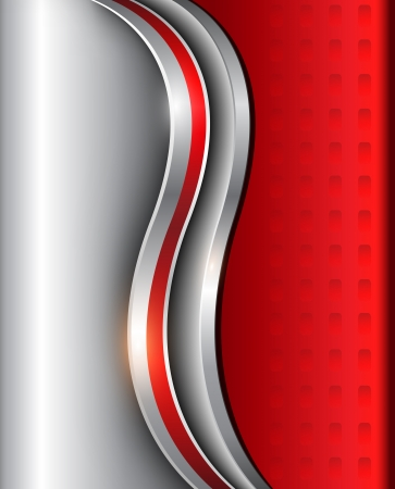 Abstract background silver red.
