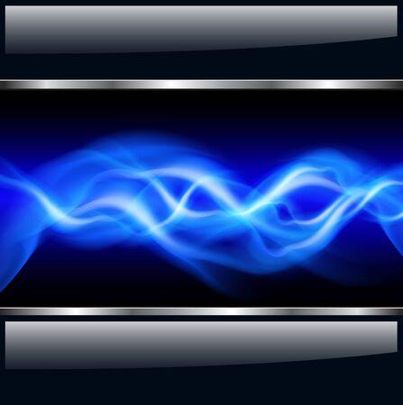 spannung: Abstrakter Hintergrund mit Vektor-Blitze Illustration