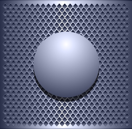 abstract aperture: Background elegant metallic, with vector sphere. Illustration