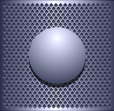 ebon: Fondo met�lico elegante, con la esfera de vector.