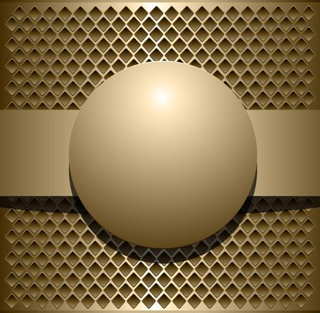 Background metallic, vector illustration Vector