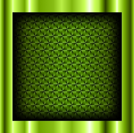 Abstract background metallic green with crystalline pattern, vector.  Vector