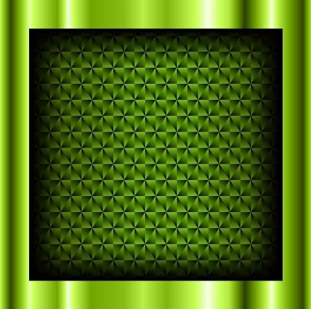 ebon: Resumen de fondo de color verde met�lico con el patr�n cristalino, vector. Vectores