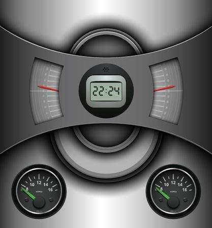 clock radio: Resumen de antecedentes, la tecnolog�a de dise�o de ilustraci�n.