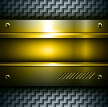3D metallic background gold steel texture. Stock Vector - 19973527