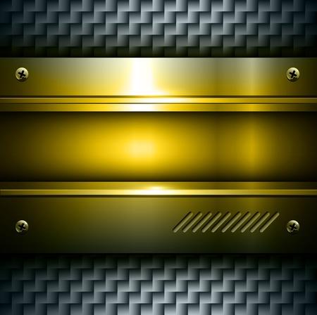 technlogy: 3D metallic background gold steel texture.