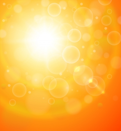 Abstract orange sunny background. Vector