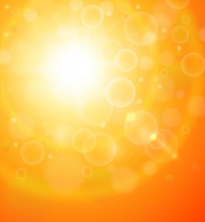 słońce: Abstrakcyjna pomarańczowy słoneczny tło.
