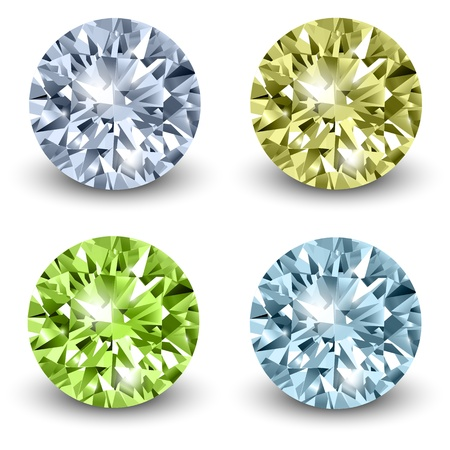 Diamonds, realistic illustration. Vector