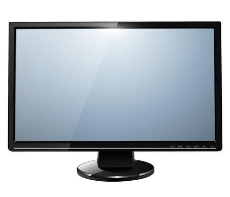 monitore: LCD-TV-Monitor isoliert, Illustration.