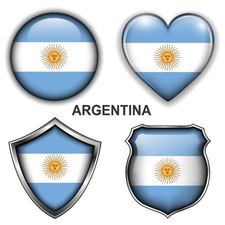 Кнопки: Аргентина флаг иконки, кнопки