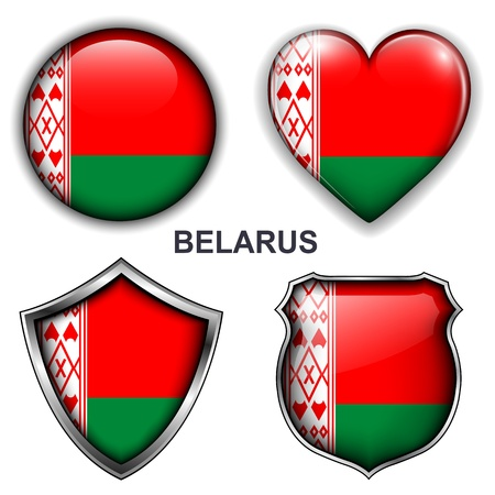 Belarus flag icons, buttons Stock Vector - 20344014