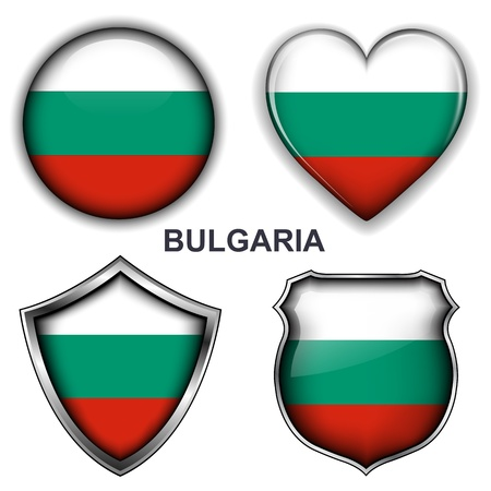 Bulgaria flag icons, buttons  Vector