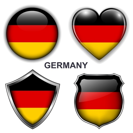 Germany flag icons, buttons Stock Vector - 20343845