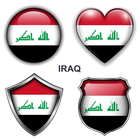 Iraq flag icons, buttons  Stock Vector - 20343892
