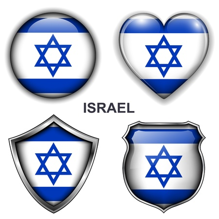 Israel flag icons,  buttons Stock Vector - 20343969