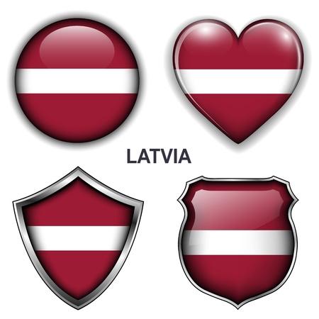 flag button: Latvia flag icons, buttons
